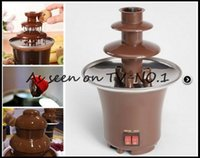 chocolate fountain - 24pcs Household Mini Chocolate Fountain Machine Chocolate Fondue Self restraint Heated European Plug