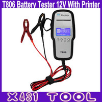 automotive battery charging - High Quality T806 Battery Tester V Automotive Battery Analyzer with Printer Charging System Test Start System Test