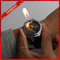 Flame novelty lighters - New Watch Novelty Man Quartz Sports Refillable Butane Gas Cigarette Cigar Military Lighter Men Watches Luxury Brand