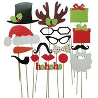 Wholesale DIY Photo Booth Props Christmas Gift Style Photo Props Wedding Birthday Party Decor