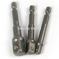 Wholesale 3 Socket Adapter Set Hex Shank to quot quot quot Impact Drill Tools Drill Bits order lt no track