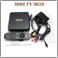 2g plugs - Latest M8S Ott TV Box G G Dual band G G wifi Android Amlogic S812 tv box M8S HD P Media Player with EU AU US UK Plug