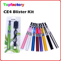 Electronic Cigarette ce4 - CE4 Starter Kits Electronic Cigarette Blister kits CE4 atomizer mah mah mah battery in Blister Packing various colors DHL Free