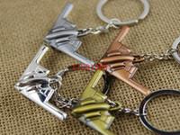 airlines keychain - 100pcs Retro warplane airlines model keychain key chain air plane aircrafe keyring R01