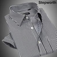 dress shirt for men - Men Business Shirts New Style Stripe and Jacquard Short sleeve Business Dress Shirts For Men M0167