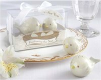 Wholesale In Stock wedding favors the Nest Ceramic birds salt pepper shaker ceramic wedding gifts for guests