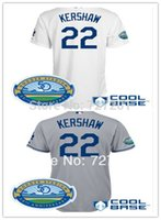 los angeles - Cheap LA Los Angeles Dodgers Clayton Kershaw Baseball Jersey W50th Anniversary Authentic Onfield Cool Base Jersey Embroidery