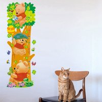 Wholesale New DIY wall stickers Winnie the Pooh Height stickers cm in children s room decor nursery stickers waterproof removable