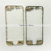 Wholesale Front Middle Frame Bezel Bracket Touch Screen Holder M Adhesive Replacement Parts For iphone S C Black White LCD Digitizer