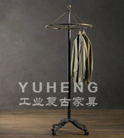 Wholesale Industrial retro furniture to do the old hanger hangers clothing rack shelf hotel loft style hangers