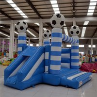 playground equipment - AOQI amusement park equipment football theme inflatable combo playground for kids for sale made in China
