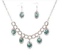Wholesale Europe and the United States the new original fashion necklaces earrings set of ms chain only beautiful acrylic accessories