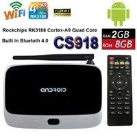 Wholesale xbmc installed Bluetooth Version EKB311 MK888B CS918 quad core android tv box Android GB GB RK3188 nm Cortex A9 mini pc T R42