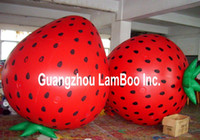 Wholesale Meters Height Inflatable Helium Balloon Strawberry Shape for your Promotion