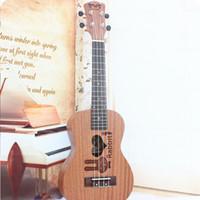 Wholesale Professional inch Acoustic Soprano Ukulele Guitar Music Instrument Wood Toy Guitar Sapele Rabbit Cartoon Style Guitar