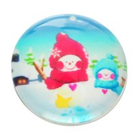 Wholesale Hot New Snap Buttons Fit DIY bracelets for womenChristmas Snowman Pattern mm