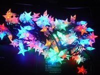 Wholesale 2015 star LED Christmas lamp string color luminous romantic festival venue decoration lighting factory