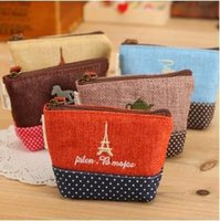 Cheap Free shipping New 2014 Zakka IKEA Cotton material coin purses key cases wallets girl gifts travel storage bag Lovely small pouch