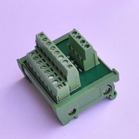 Wholesale Power Divider Cable Distribution Splitter Common terminal block DIN Rail Type DC V