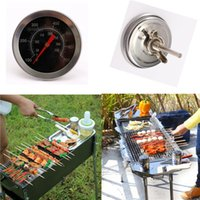 bbq pit smoker - Stainless Steel BBQ Smoker Pit Grill Thermometer Gauge Temp Barbecue Camp Accessories