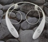 Wholesale stereo bluetooth headsets hv neckband Portable In ear sport bluetooth Headphones wireless Earphones HBS OY