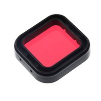 Wholesale New Professional Diving Tropical Water Housing Red Filters Color Correction Filter for GoPro Hero Camera Scuba