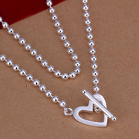Wholesale Hot Sell New Fashion GU Heart shaped Beads Pendant Necklace Chain Clavicle For Women SMTN145