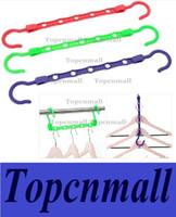 Wholesale color magic five hole clothes hanger multi function clothes rack