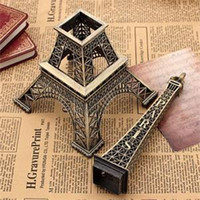 Wholesale Popular Household Metal Crafts Bronze Paris Eiffel Tower Figurine Statue Vintage Alloy Model Decor Ornament cm