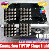 active matrix led - Flight Case in1 Packing Pieces Stage Light LED Matrix X30W COB Blinder RGB IN1 Effect LED Audience Light DMX Control Freeshipping