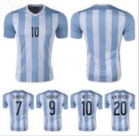 Wholesale Customized Thai Quality Argentina Home jersey DI MARIA HIGUAIN MESSI MARADONA Kun Aguero Football Jersey