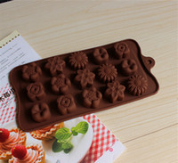 Wholesale Baking Chocolate Mould Mold Muffin Candy Cube Cupcake Ice Tray Baking