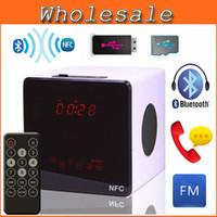 Cheap New Portable Touch Mini Bluetooth Speakers Remote Control NFC Wireless Smart Hands Free Speaker With FM Radio Support SD Card