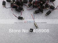 Wholesale 50pcs Vibrator Motor DC motor mm x mm Vibration Pager Vibrating with Wire and Cover micro motor
