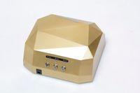 Wholesale On Sale W LED CCFL Nail Dryer Light Diamond Shape LED UV Gel Curing Lamps New Popular Drying Gel Polish Nail Tools