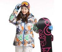 Wholesale new fashion skiing snowboard waterproof thermal outdoor sportswear winter ski jacket women brand Dropshipping