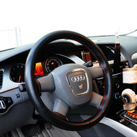 Wholesale 1Set Hand Anti slip Grip Car Steering Wheel Cover Protector with Needles Thread Sew