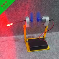 Wholesale LC10 DIY Miniature wind power demonstration model Mini wind generators Popular science educational toy by hand