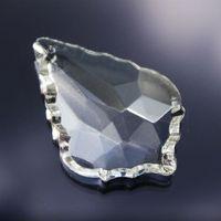 Wholesale pieces mm French Pendalogue Prisms Crystal Chandelier Parts Wedding Centerpieces Hanging Drops Glass Ornament Pendant