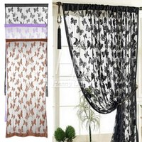 Wholesale New Hot Butterfly Fringe String Curtain Panel Window Room Divider Tassel Colors Drop Shipping