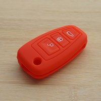 auto ford ranger - Red car key silicone case cover auto accessories for ford focus Fiesta Hatch Ranger Escape Fusion Kuga Transit