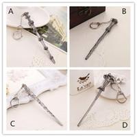 Wholesale Harry magic wand Necklace Keychain Key Chain Harry Hermione Dumbledore Voldemort wand pendant