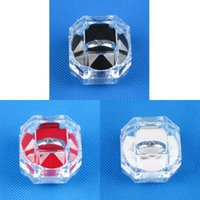 Wholesale Clear View Plastic Ring Display Case Jewelry Box
