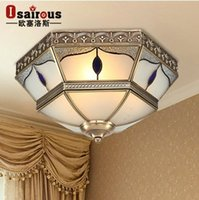 american light source - American New Classical Retro Simple Copper Ceiling Lights Head E27 Light Source