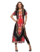 african leggings - Summer Wome Traditional African fashion With Side Split Long Dress And Women Traditional African fashion Leggings Sets