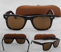 Wholesale Top quality Mens Womens Classic Brand Sunglasses mm Leopard frame brown Lenses Eyewear High Quality come box