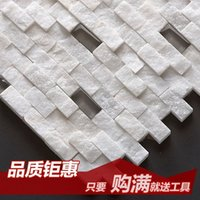 bathroom stone tile - Jasmine crystal glass mosaic entrance living room TV backdrop white stone bathroom tile