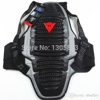 Wholesale Motorcycle back spine protector motocross armor motorcycle Protective gear skiing brace free size black A5