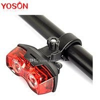 Wholesale Bicycle Cycling Super bright and fantastic W LED modes Rear Tail Light Safety Taillight Dual Eye Flashing Bike Lamp By x AAA Battery