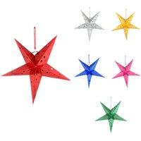 Wholesale Pentagram Lampshade Star Paper Lantern Hanging Wedding Xmas Venue Decor cm